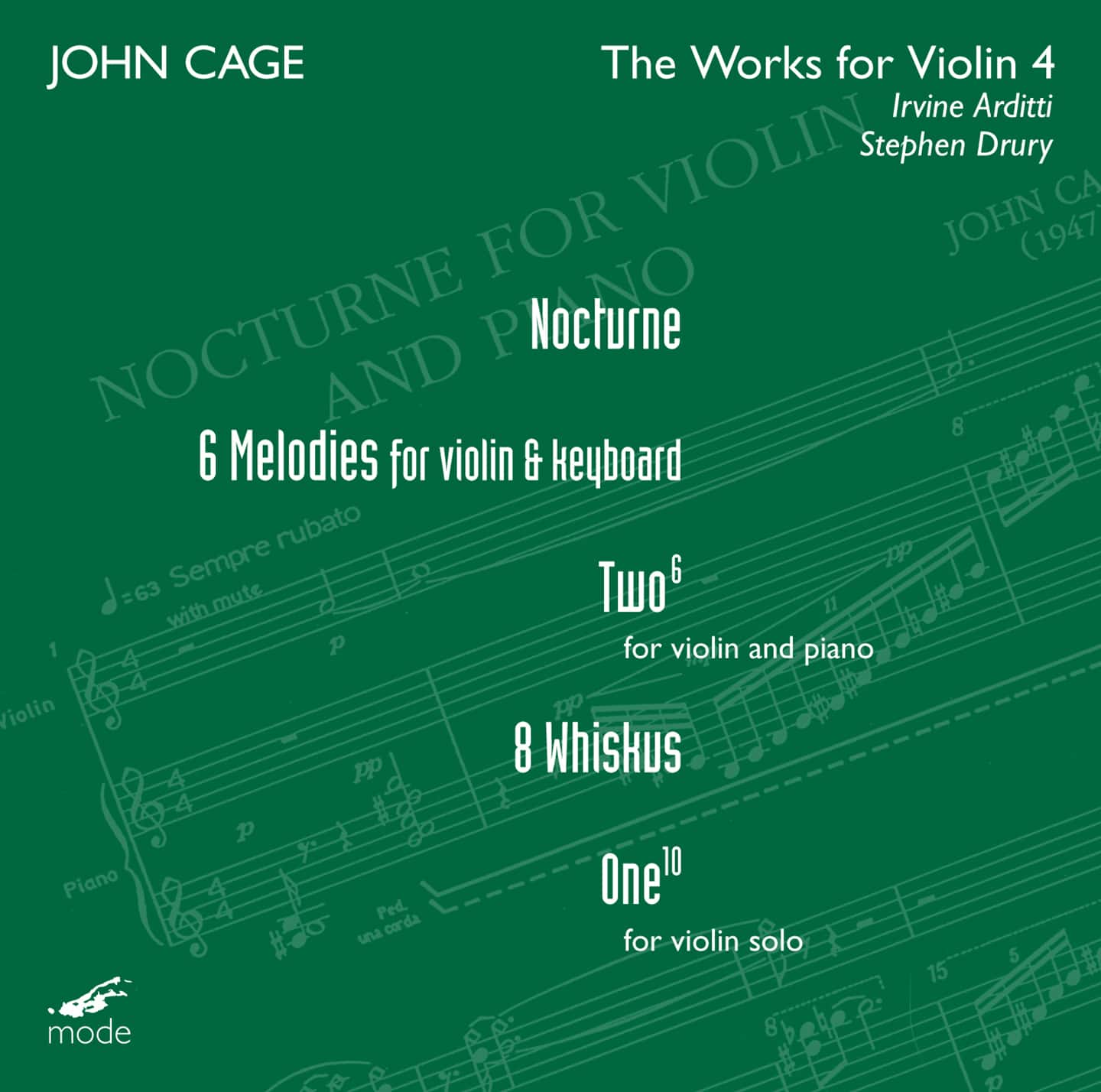 Cage Edition 23–Works For Violin 4