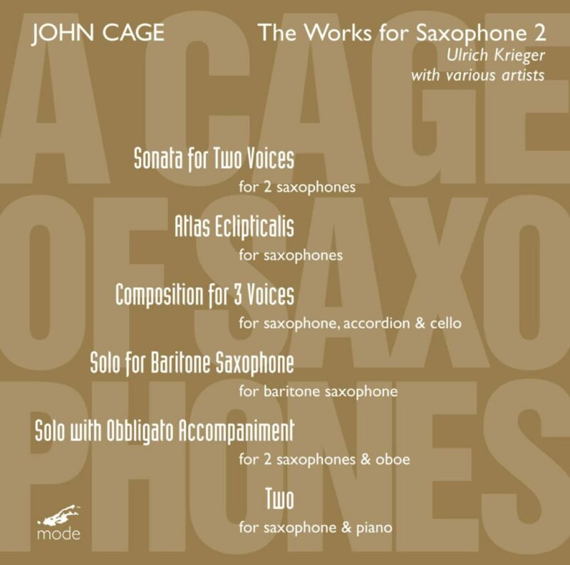 Cage Edition 24–A Cage Of Saxophones 1