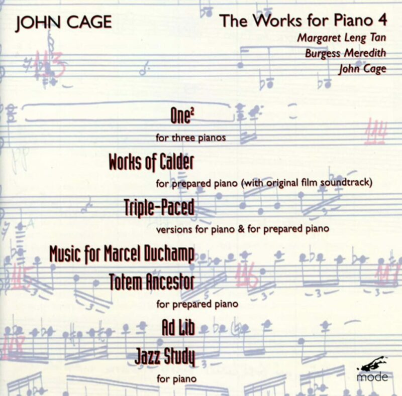 Cage Edition 25–The Piano Works 4
