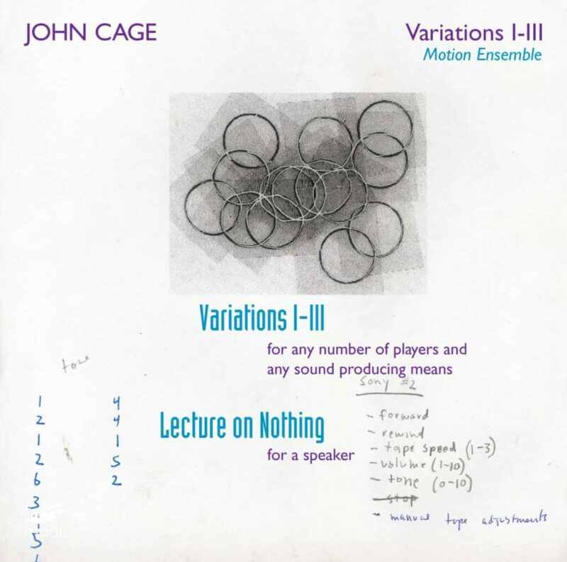 Cage Edition 29–Variations 1, 2 & 3