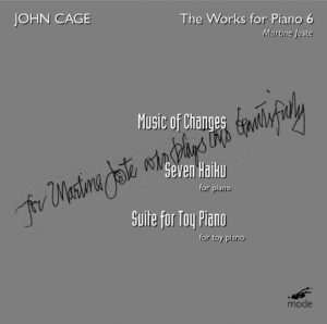 Cage Edition 29–The Piano Works 6