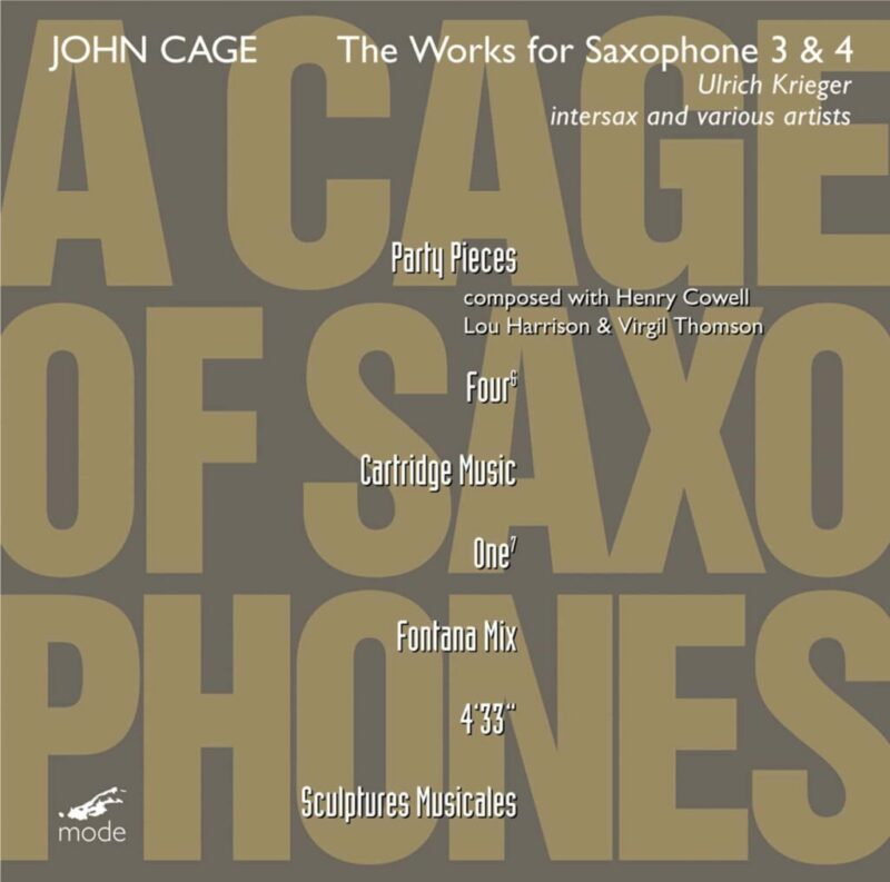 Cage Edition 42-A Cage of Saxophones 3 & 4